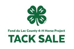 Fond du Lac County 4-H Horse & Pony Project Spring Tack Swap